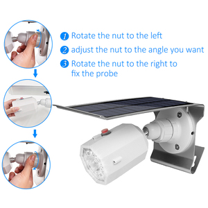 Image 4 - 10 LED Solar Light Adjustable Lighting Angle 500lm Waterproof Lamp Spotlight With Three Modes For Outdoor Gardn Wall Yard