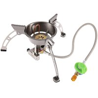 BRS 11 Gas Burners Windproof Cooker Picnic Cookout High Quality Hiking Equipment Oven Heater Tripod Outdoor Camping Stove