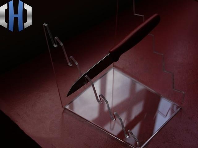 EDC épaissi personnalisé outil personnalisé haut de gamme présentoir de couteaux pliants porte couteau