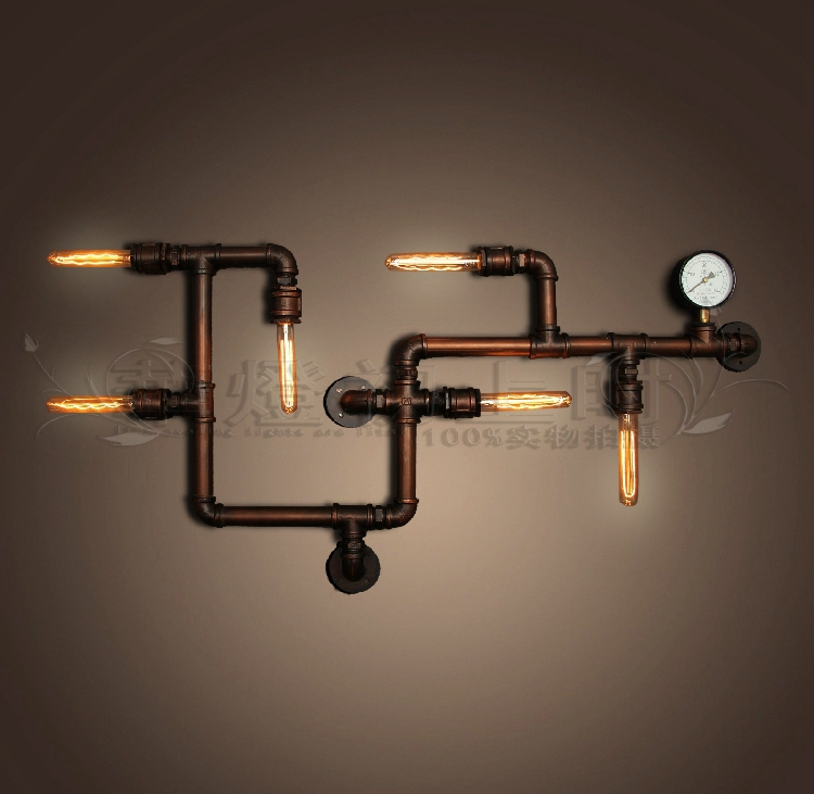 Creative Vintage American Country Style Loft Plumbing Fixtures Personalized Wall Art Lamp Lighting Bars On Aliexpress Alibaba Group