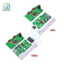 40A 100A LED Digital Single Pulse Encoder Spot Welder Welding Machine Transformer Controller Board Module DIY Battery Welding