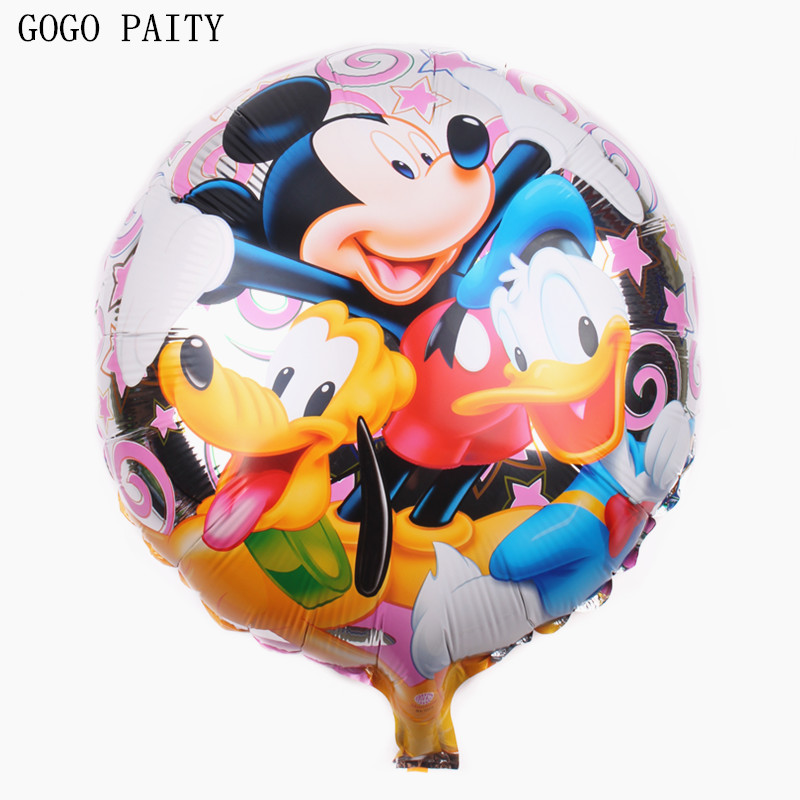 gogo paity 18inch donald duck mickey balloons happy birthday party decoration ballons. Black Bedroom Furniture Sets. Home Design Ideas