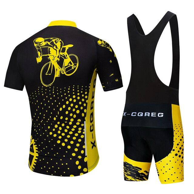 2020 equipe X-CQREG ciclismo roupas de bicicleta jérsei 12d almofadas gel dos homens ropa ciclismo verão topos ciclismo jerseys bicicleta shorts 2