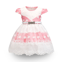 Newborn Baby Girl 1 Year Birthday Party Dress Tulle Toddler Girl Dress Infant Princess Party Dresses