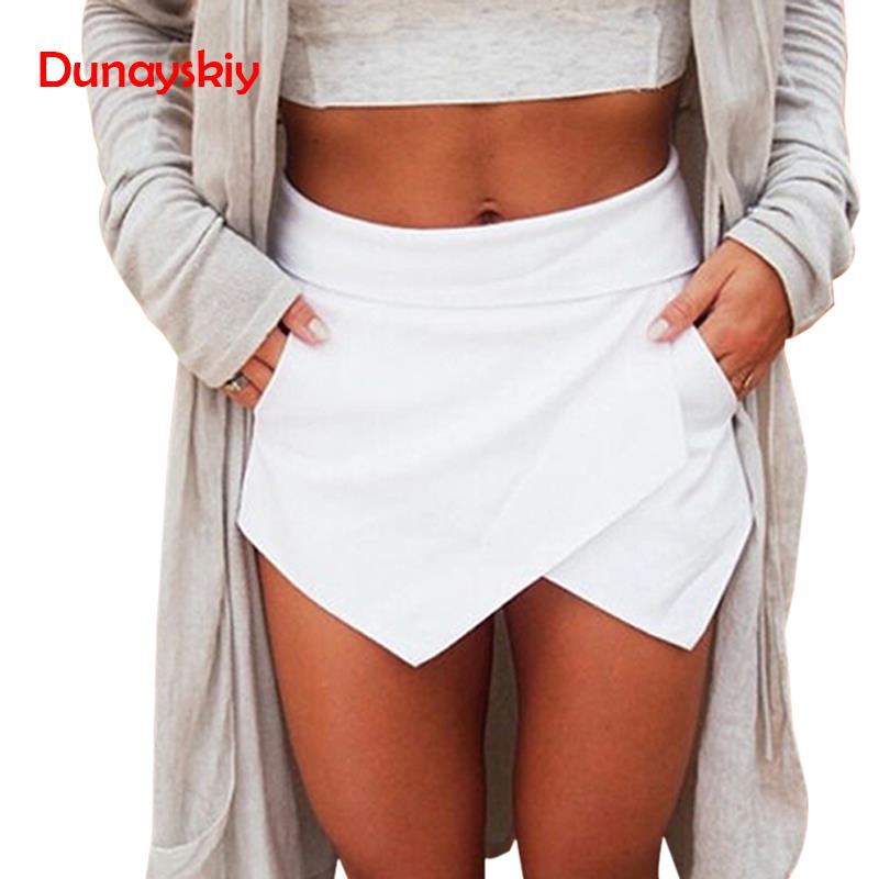 Skort Shorts Sexy Casual Asymmetrical Candy-Color Summer Women's New Spring Front Hot-Sale