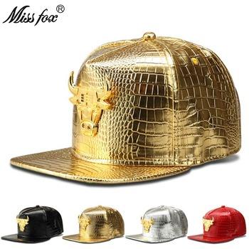 Missfox Hip Hop kobiety mężczyzna kapelusz wysoce polerowane krowa Streetwear kapelusz krokodyla skóra ekologiczna z wzorem zachodniej męskie kapelusze i czapki tanie i dobre opinie Hip Hop Czapki Regulowany 44842063249 Faux leather GEOMETRIC