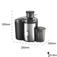 220V Stainless steel Juicers 2 Speed electric Juice Extractor Fruit Drinking Machine For Home