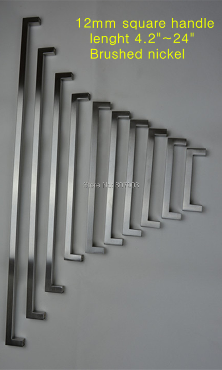 12 12mm Square Bar Door Handle Stainless Steel Kitchen Cabinet Pull 4 2