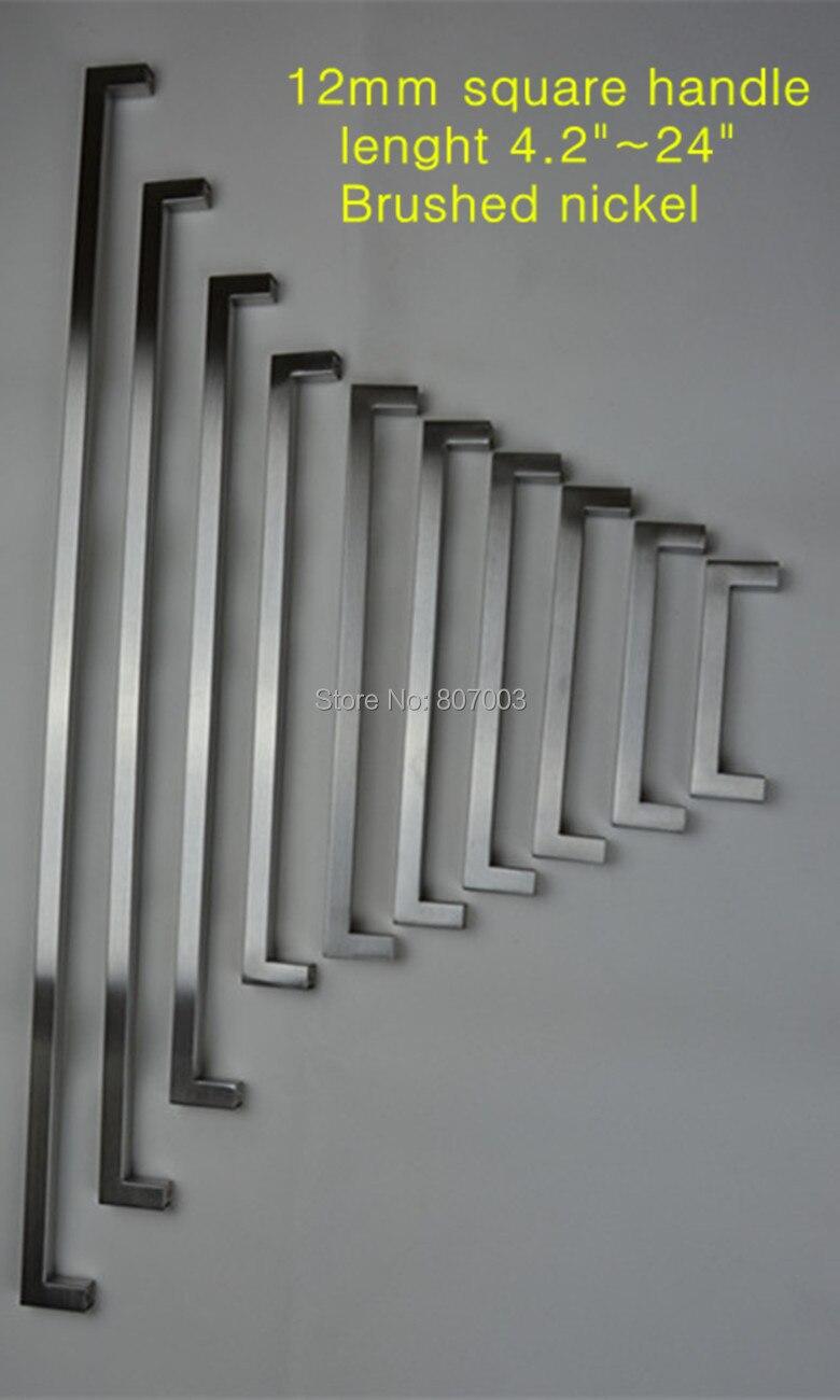 12 12mm Square Bar Door Handle Stainless Steel Kitchen Door Cabinet Handle Pull K 4 2