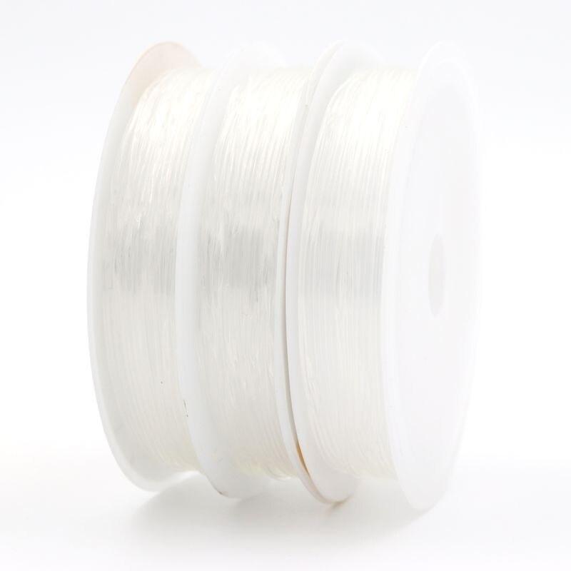 1 рулон 0.5 0.6 0.7 0.8 1 мм Кристалл Упругие Бисер шнур Строка Нитки для изготовления ювелирных изделий DIY Цепочки и ожерелья Браслет интимные аксессуары