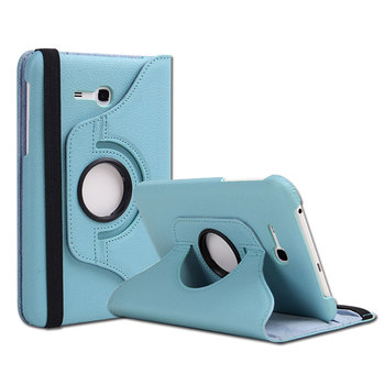 360 Degrees Rotating Litchi PU Leather Flip Cover Case For Samsung GALAXY Tab3 Lite 7.0 T110 T113 SM-T111 7 inch Tablet 360 degrees