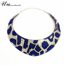 statement necklace jewelry vintage collares colar collier Women Acrylic simple punk ethnic crystal choker necklaces 2017 New(China)