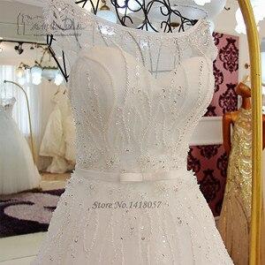 Image 4 - Vestido de Noiva Vintage Wedding Dress Princesa Wedding Gowns Beads Crystals Sequined Bride Dresses 2017 Real Brautkleid Boda