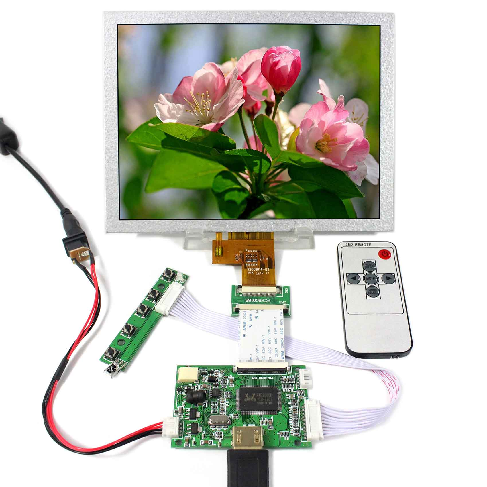 HDMI LCD Controller Board+8inch EJ080NA-04C 1024x768 LCD Screen hdmi lcd controller board 8inch ej080na 05b 800x600 lcd screen