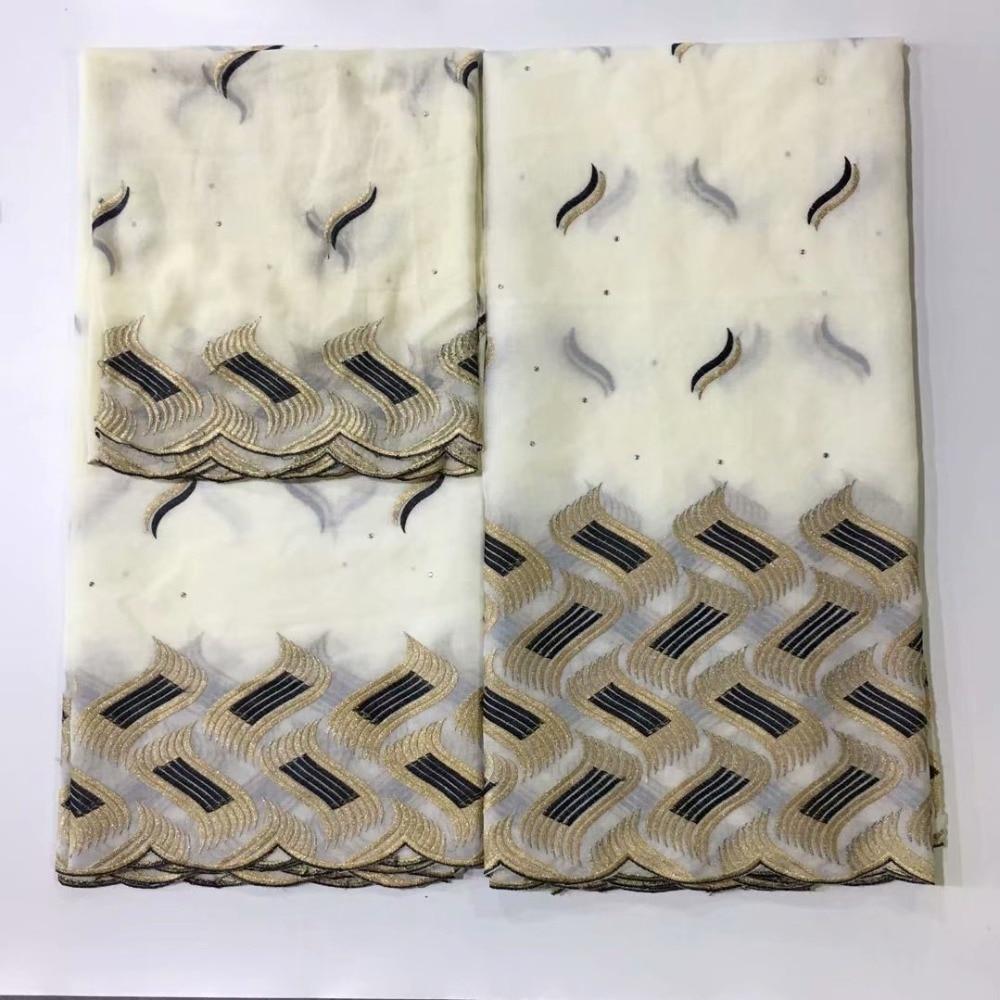 pretty 3 in 1 soft swiss cotton fabric embroidery with rhinestones in switzerland nigerian tissu africain