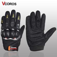 Vcoros перчатки для мотоцикла на полный палец, износостойкие защитные перчатки для мотокросса, дышащие мотоциклетные перчатки для езды на велосипеде