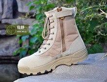 Hohe Qualität Neue 2016 Armee Stiefel Männlichen Reißverschluss Design Taktische Stiefel Delta SWAT Schuhe Für Männer Schwarz Militärstiefel