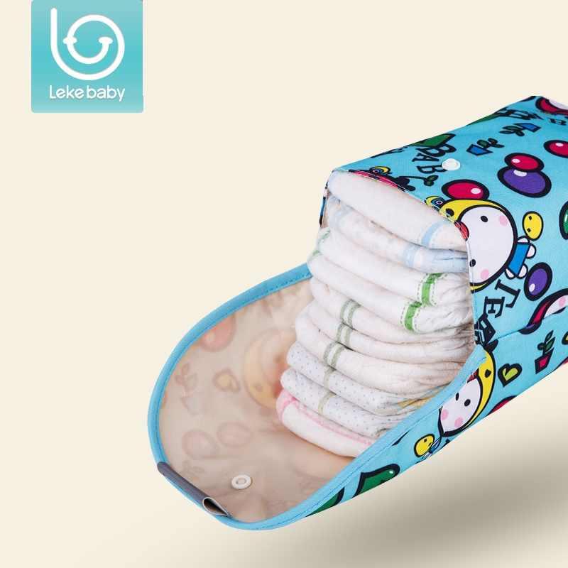 ec82ffd27 Lekebaby bebé pañal bolsas de bolsa impermeable mojado de pañal de tela  mochila reutilizable cubierta del