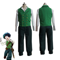 Anime My Hero Academia Izuku Midoriya Cosplay Costumes Boku no Hero Academia Deku Uniform Halloween Vest Shirt Pants Custom Made
