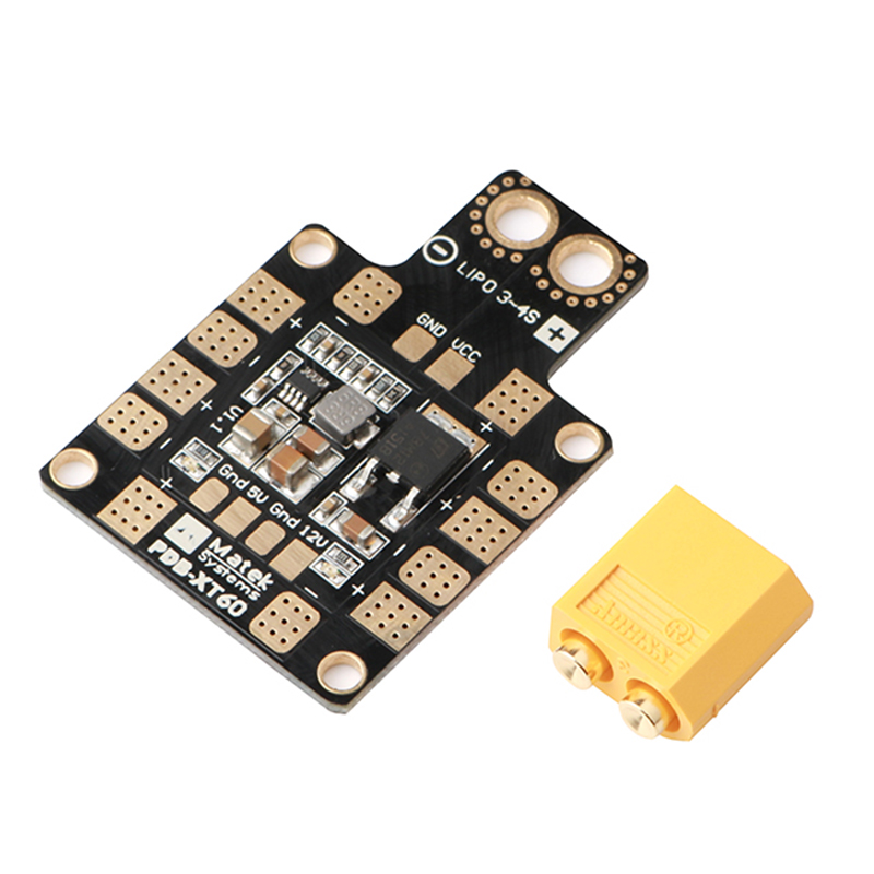 PDB XT60 Power Distribution Board BEC 5V 2A 12V 0.5A With XT60 Plug For DIY Quadcopter Output Support 6 ESC