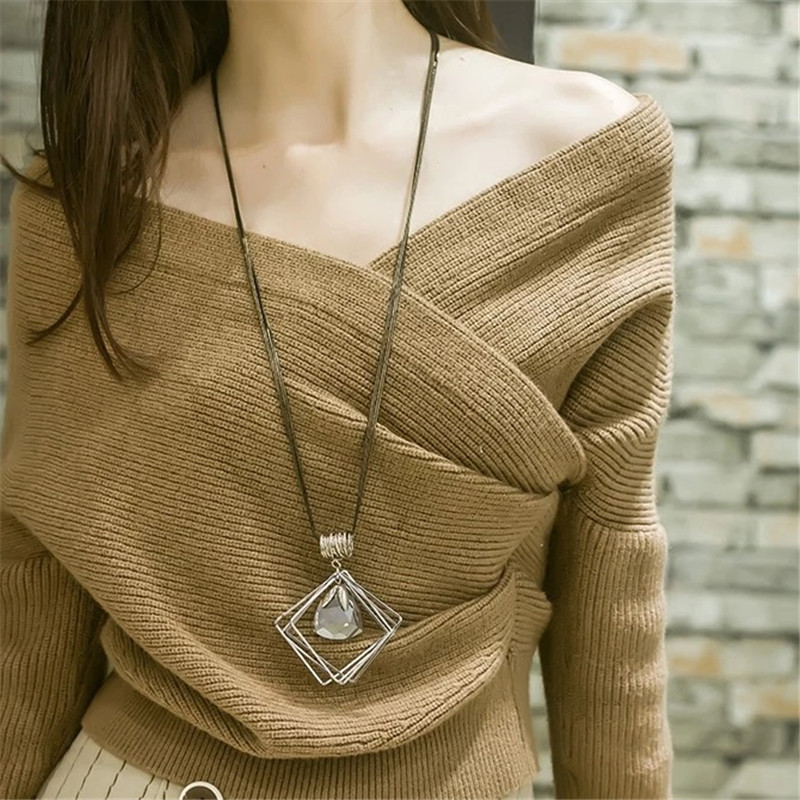 BYSPT-Women-Pendant-Necklaces-Square-Waterdrop-Ball-Crystal-Necklace-Chain-Necklace-Long-Sweater-Necklace (2)