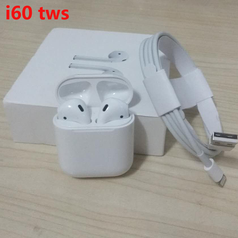 i60TWS Pop up 1:1 Wireless Charging Bluetooth 5.0 Earphone 6D Sound Bass Earphones Earbuds i60 TWS PK i20 i10 i12 Not W1 chip
