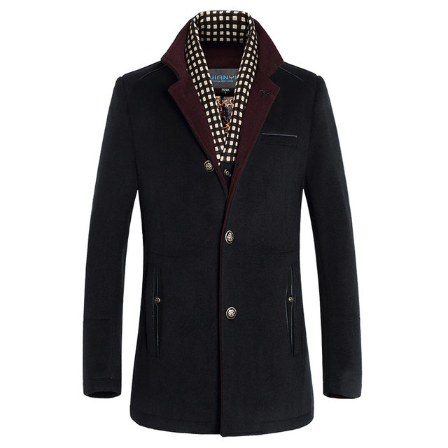 2016 Autumn Winter New Casual Lange Overjas Mannen Slim Scarf Collar Decoration Stylish Trench Coat Men