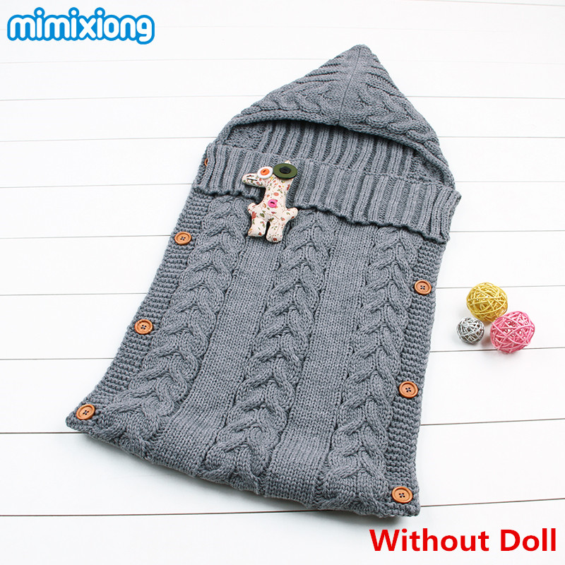 Baby Winter Stroller Sleep Sack 2017 Newborn Toddler Hoody Sleeping Bags Autumn Wrap Warm Knitted Envelope for Infant Boys Girls