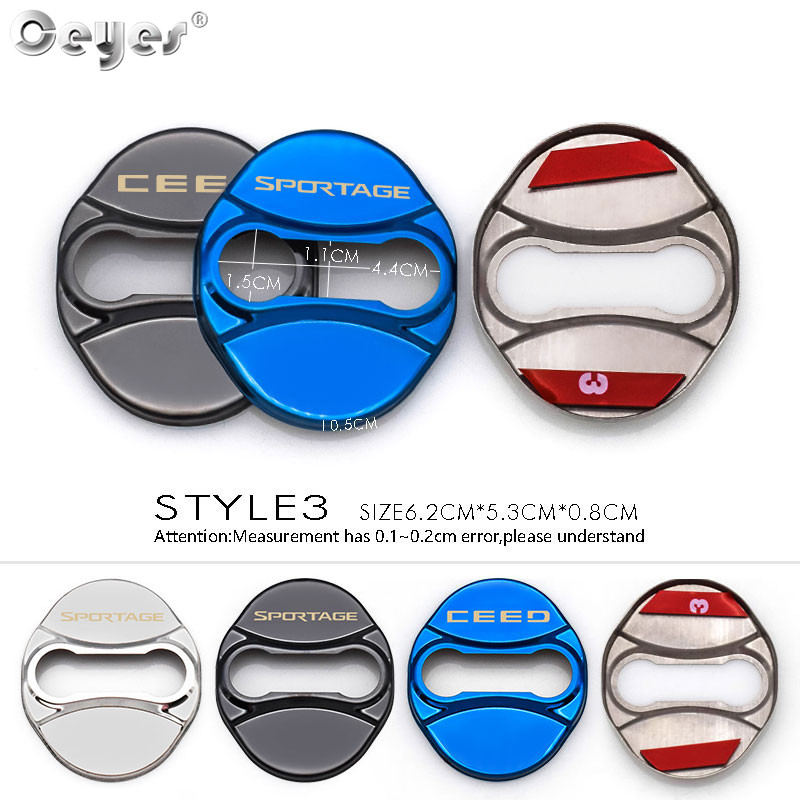 Image 4 - Ceyes 4pcs/lot Car Styling Auto Protect Door Lock Cover Stickers Accessories Case For Kia Ceed Sorento Sportage Emblem 2017 2018-in Car Stickers from Automobiles & Motorcycles
