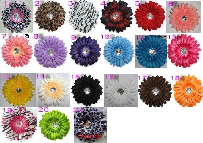 """200 шт. Mix 4 цвета """"Африканский ромашки(Гербера) взаимозаменяемы цветок Зажимы/цветочные аксессуары для волос"""
