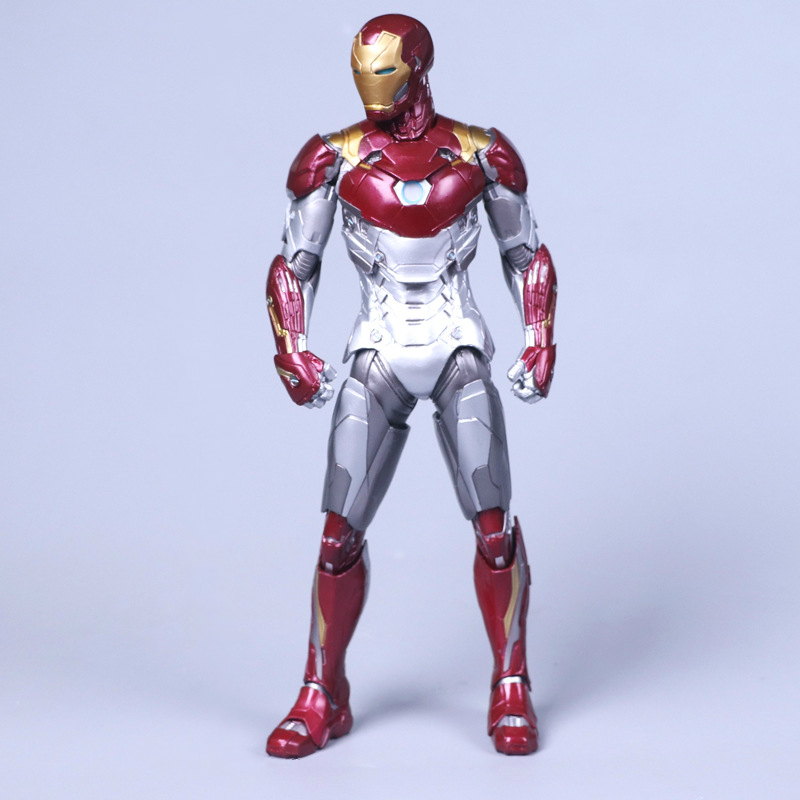 Anime Iron Man MK47 PVC Action Figure Superheros Ironman Collectible Model Kids Toys Doll 28cm hot the avengers ironman action figure 17 5cm mk42 mk43 iron man doll pvc acgn figure toy brinquedos anime kids toys
