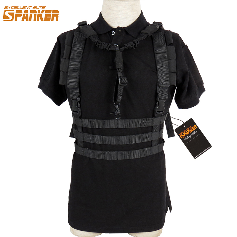 EXCELLENT ELITE SPANKER Outdoor Hunting Chest Strap Tactical Vests Tactical Waist Belt Military Men's Hunting Vest Equipment excellent elite spanker tactical molle chest strap vest detachable chest rig outdoor military hunting nylon sling vest equipment