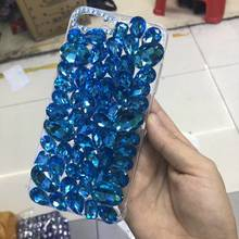XINGDUO 5C bling rhinestone com diamantes para o iphone X XS XR XS MAX Moda de luxo shell Transparente para iphone 5 6 6s 7 8 Plus(China)