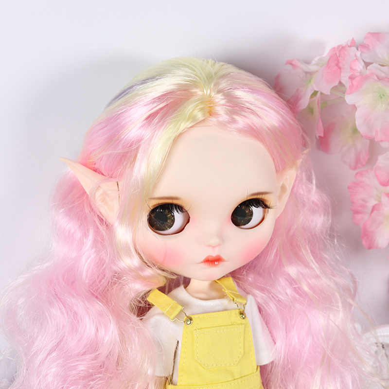 Кукла Blyth 1/6 эльф и человеческое пластиковое ухо белый натуральный загар темная и супер темная кожа подходит для 30 см кукла DIY аксессуары подарок