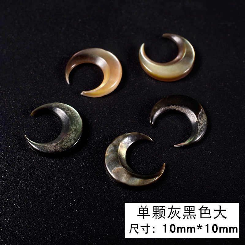 Wysokiej jakości 1 sztuka/pudło japoński nowy manicure mody kamień księżycowy naturalne powłoki amber biały powłoki biżuteria do paznokci akcesoria 2018