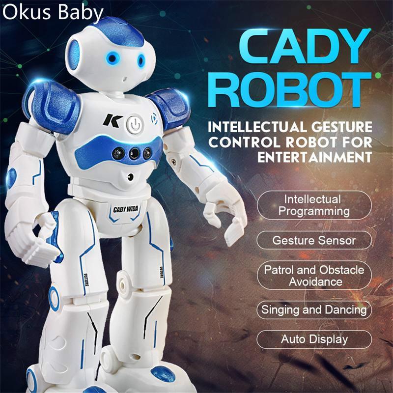 2019 RC Robot Intelligent Programming Remote Control Robotica Toy Biped Humanoid Robot For Children Kids Birthday Gift Present
