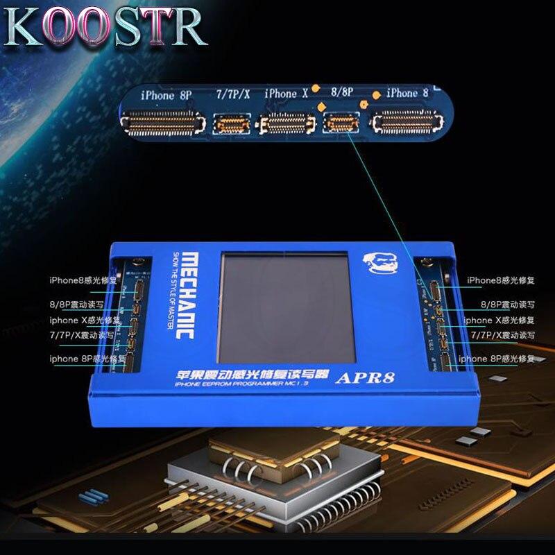 MECHANIC LCD Photoreceptor repair programmer For Iphone 7G 7P 8G 8P X APR8 Vibration code read