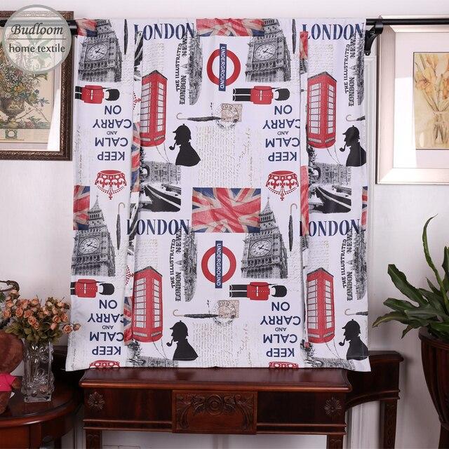 Budmétier Style Londonien Court Rideaux Occultants Pour Chambre