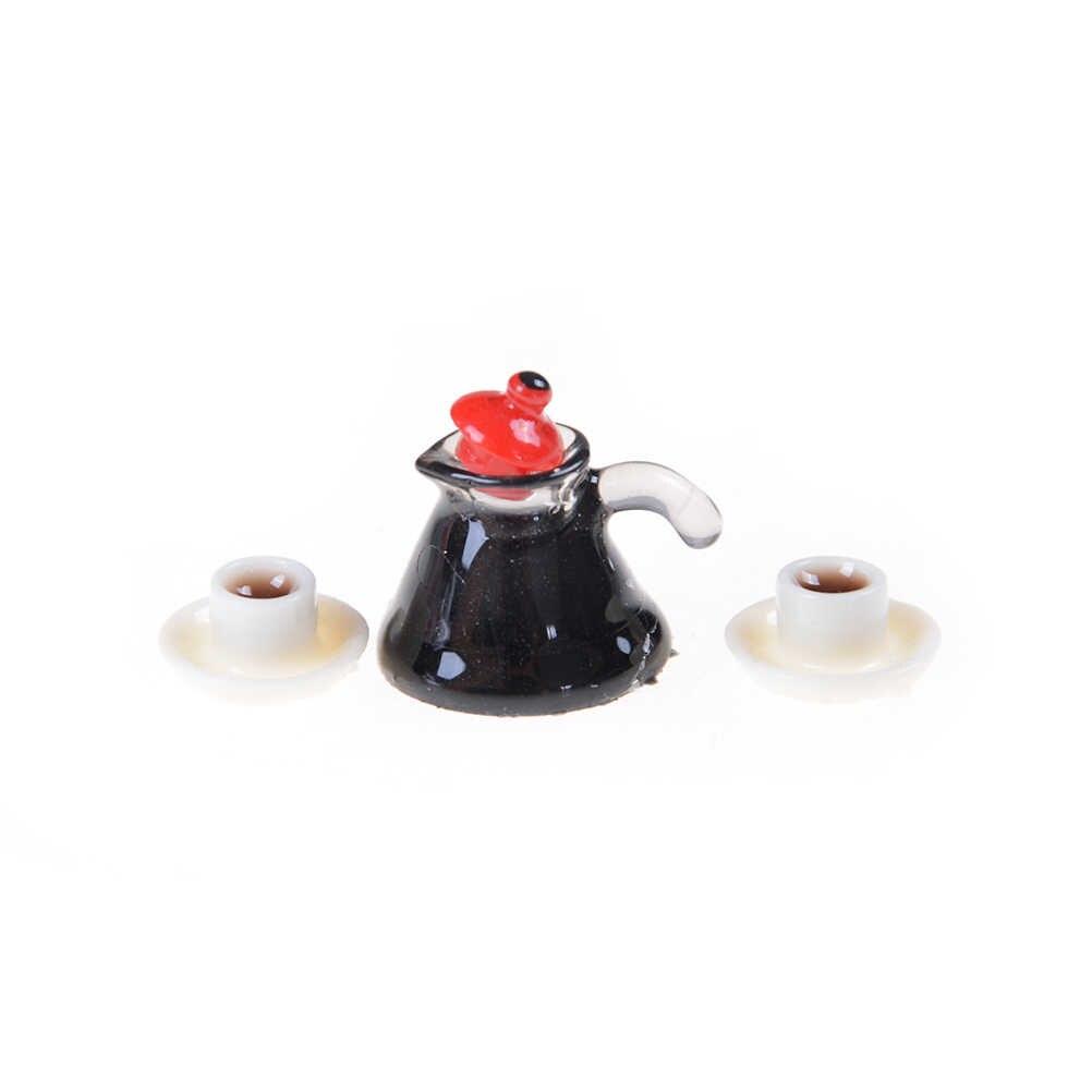 Plaat Jam Drink Cup Schotel Kom Servies Set Poppenhuis Miniatuur Speelgoed Pop Voedsel Keuken Woonkamer Accessoires