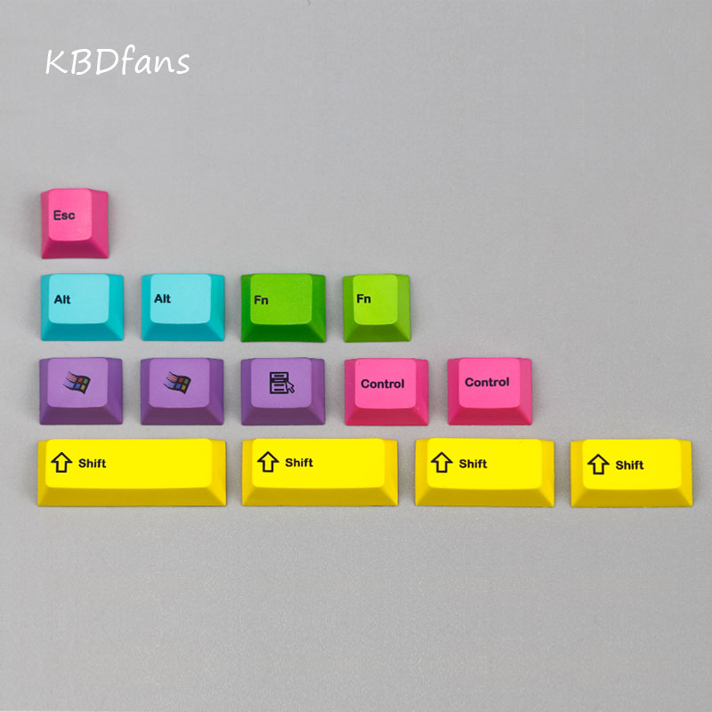 где купить npkc dye subbed keycaps cherry profile pbt keycap for mechanical keyboard дешево
