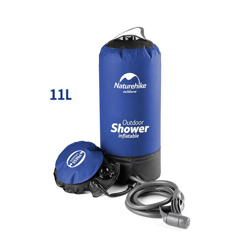 11L PVC Portable sac de douche en plein air Camping douche randonnée hydratation sac d'eau réservoir d'eau Waterbag couleur bleue