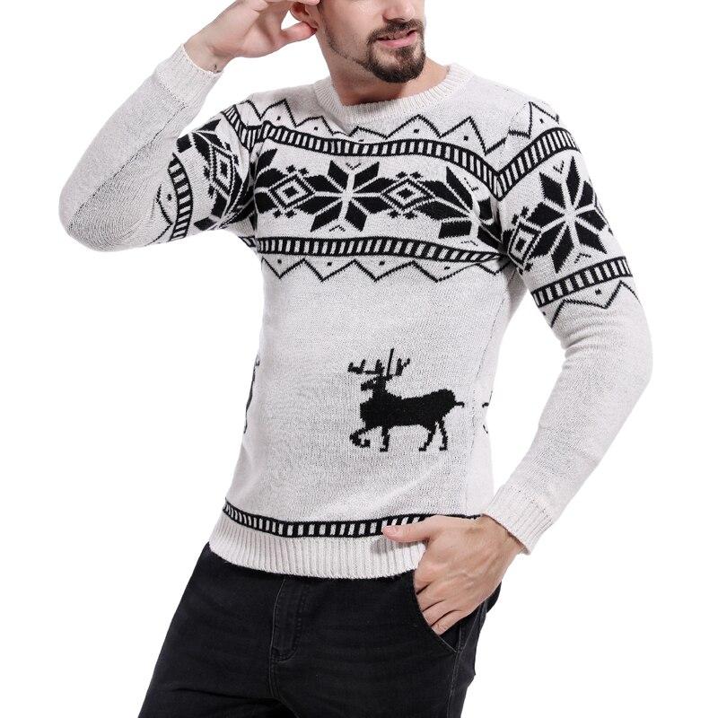 Kersttrui Uitverkoop.X Mas Truien Mannelijke Mannen O Hals Lange Mouwen Katoen Fashion