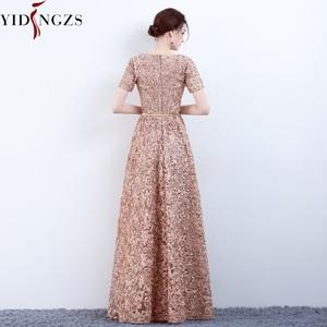 Image 2 - Yidingzs エレガントなカーキレースイブニングドレスシンプルな床長さのイブニングパーティードレスフォーマルドレス