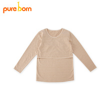 Pureborn Clothing T-shirt for Pregnant Women Maternity Clothes for Feeding Nursing Tops Pregnancy Clothes Grossesse Garment 2017