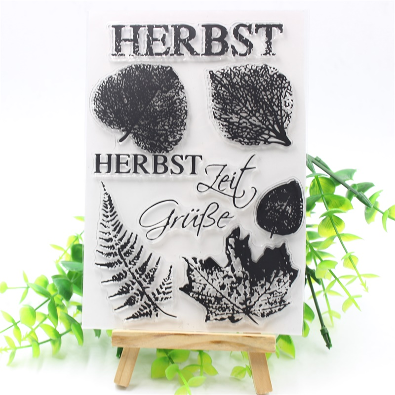 YPP CRAFT HERBST Transparent Clear Silicone Stamps for DIY Scrapbooking/Card Making/Kids Fun Decoration Supplies