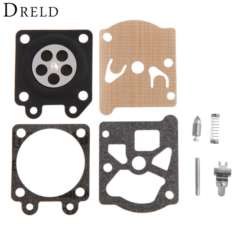 DRELD Chainsaw 5200 5800 Carburetor Diaphragm Gasket Repair Kit w/Screw Pin for Chainsaw 38/45/52/58 Carb Rebuild Chainsaw Parts dreld carburetor repair kit carb rebuild tool gasket set for walbro k20 wat wa wt stihl hs72 hs74 hs76 hs75 hs80 chainsaw parts