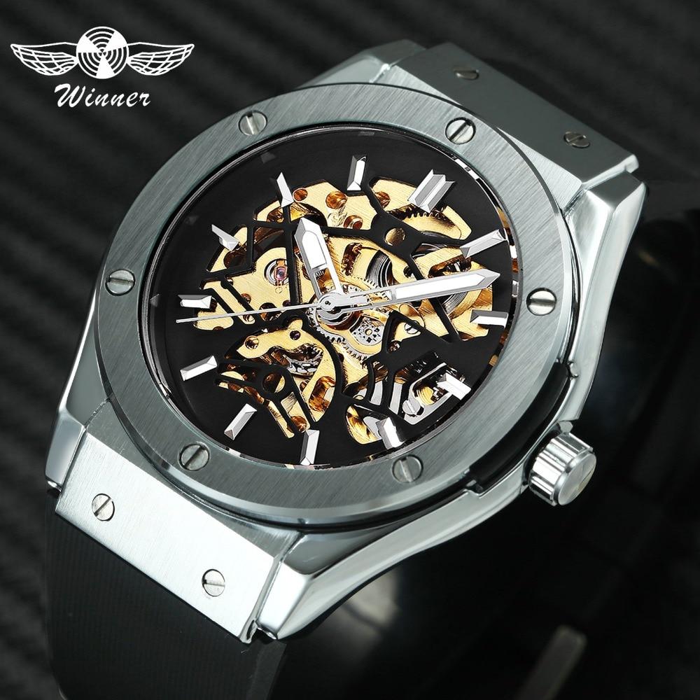 WINNER Heren Militaire Horloges 2018 Fashion Auto Mechanisch - Herenhorloges