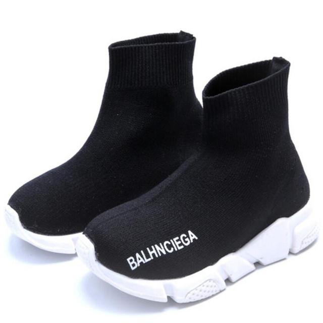 MHYONS Children Shoes Girls Sneaker For Running Boys Casual Shoes For Outdoor Anti-Slippery Fly Knit Kids Socks Shoe Sneaker