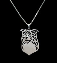 Gold & silver 1pcs Border Collie Necklace 3D Cut Out Dainty Puppy Dog Lover Pendant Memorial Necklaces Pendants Christmas Gift
