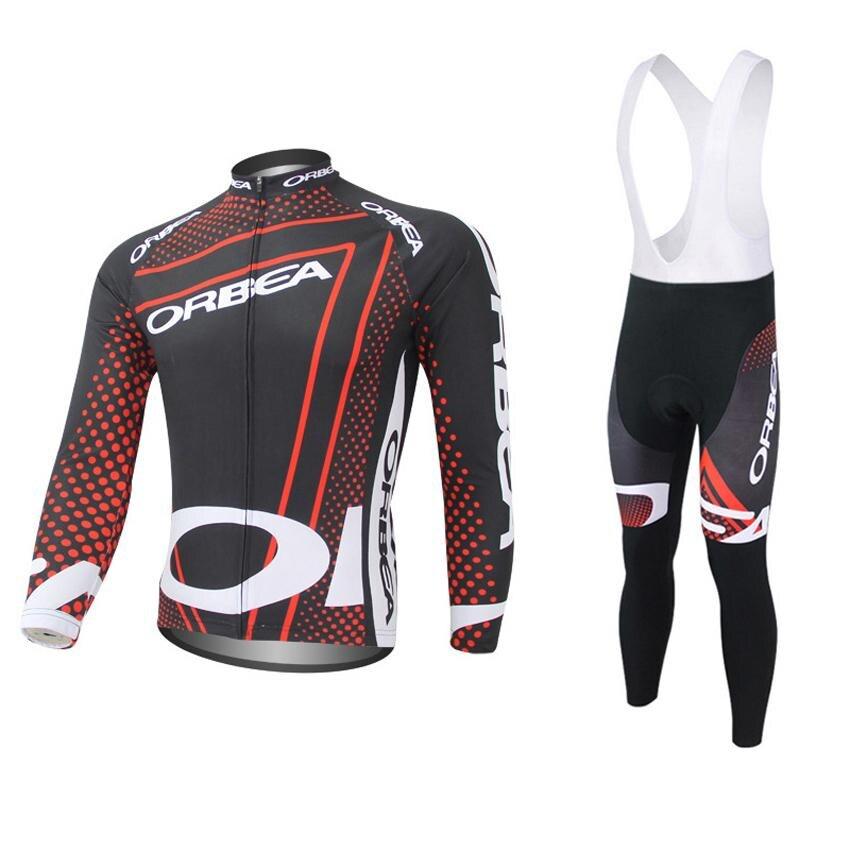 2017 командный сайт orbea с длинным Ропа ciclismo Велоспорт Джерси наборы/Осенние горного велосипед одежда/MTB велосипед Одежда для человека в 3D +12 стиль